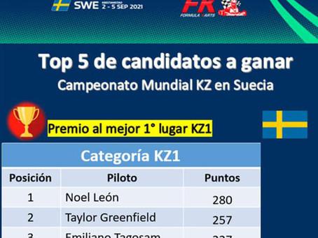 Top 5 candidatos a ganar Mundial KZ en Suecia