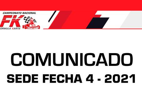 Comunicado sede para la fecha 4 2021