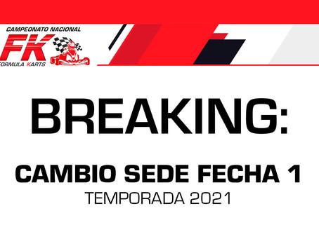 Breaking: Cambio de sede Fecha 1 Temporada 2021