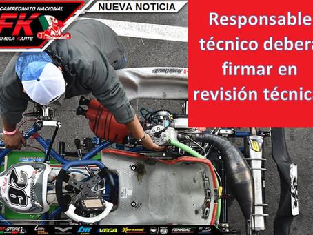 Responsable técnico firmará en revisión técnica
