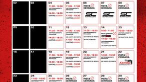 Calendario de agosto en Autódromo de León