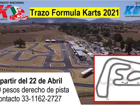 Trazo oficial fecha 3 Fórmula Karts 2021