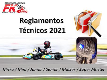 Reglamentos técnicos temporada 2021