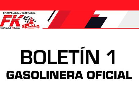 Boletín 1: Gasolinera oficial para la fecha 2