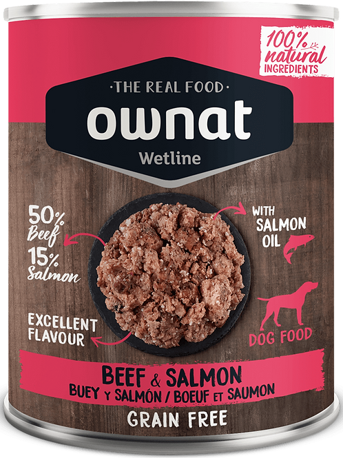 OWNAT WETLINE BEEF & SALMON 400GR