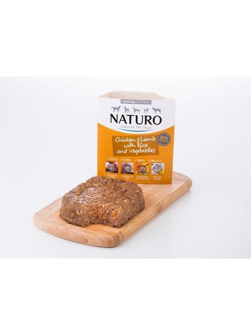 NATURO POLLO Y CORDERO CON ARROZ Y VERDURAS 400GR