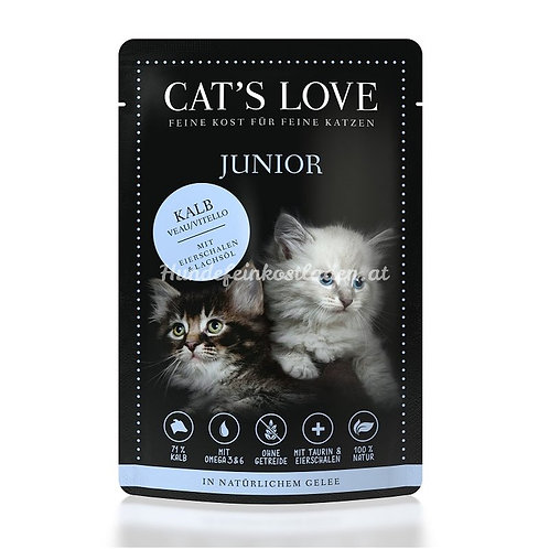 CAT'S LOVE JUNIOR TERNERA 85GR