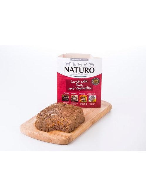 NATURO CORDERO CON ARROZ Y VERDURAS 400GR