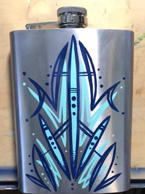 Pinstriped Flask by Matt Johnson