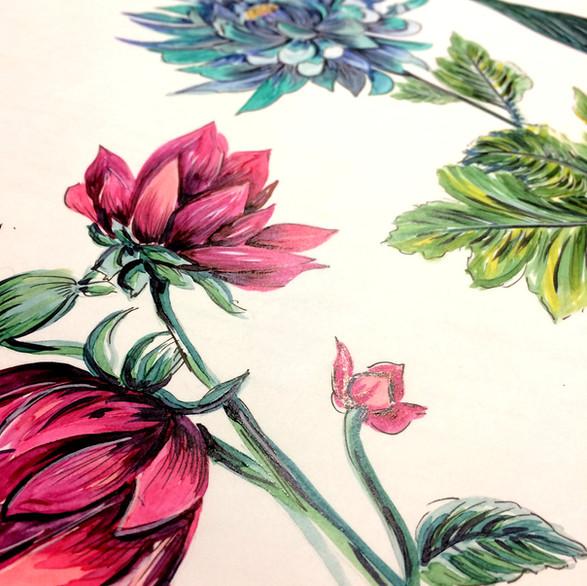 Ilustração em Copic