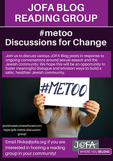 JOFA Blog Reading Group #metoo discussions for change