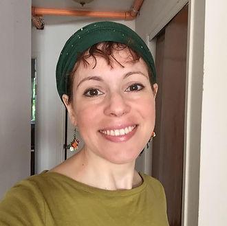 Meira in simple greens - Meira E. Schnei