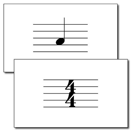 Additional Duration & Symbol Flash Cards