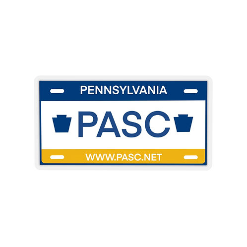PASC License Plate Kiss-Cut Stickers