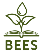 Bees Web Logos - Dark Green Stacked Logo