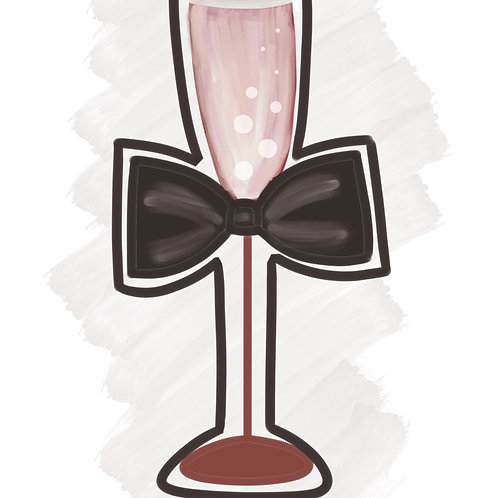 Champagne with Bow