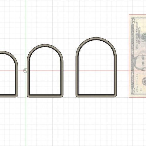 Arc Plaque STL File Small - 3 in