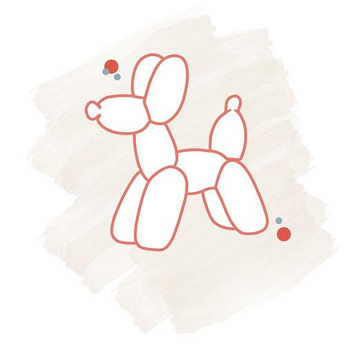 Balloon Animal STL File Small - 3 in