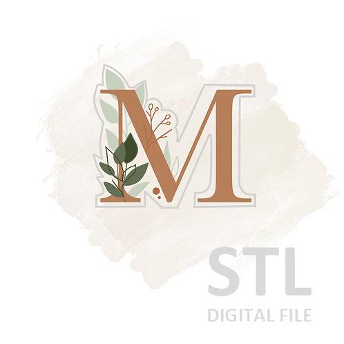 Floral M STL File Small - 2.5 in