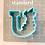 Thumbnail: Floral U STL File Standard - 3 in