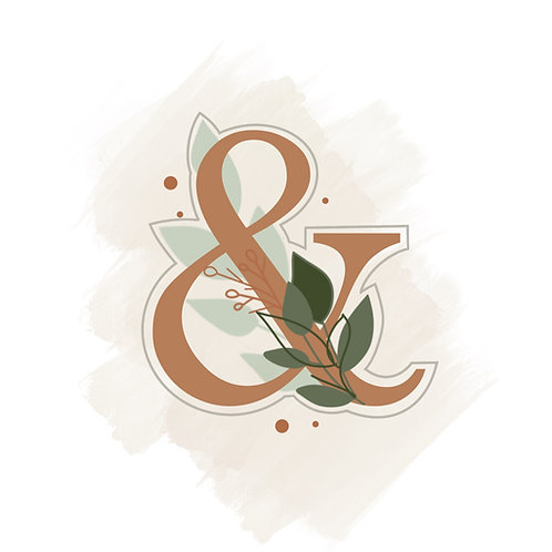 Floral Ampersand STL File Extra Large - 3.5 in