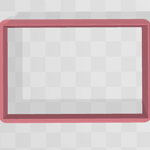 Frosted Rectangle STL File Small (3 in)