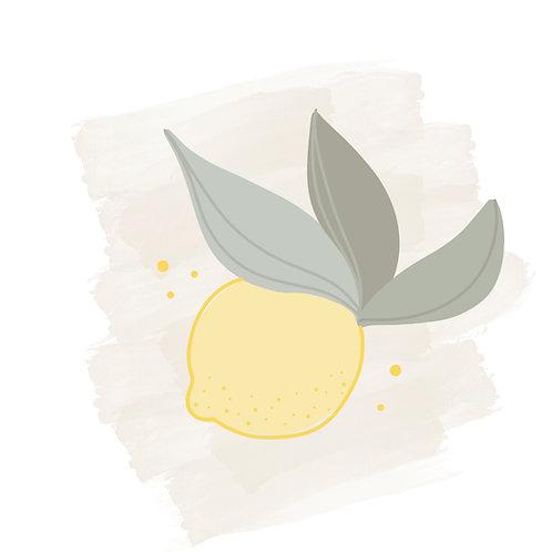 Lemon Three Leaf STL File Lemon - 4 in