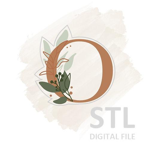 Floral O STL File Small - 2.5 in