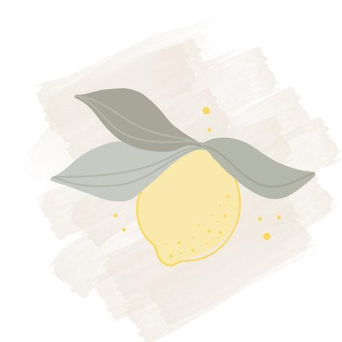 Lemon Split Leaf STL File Small - 3 in