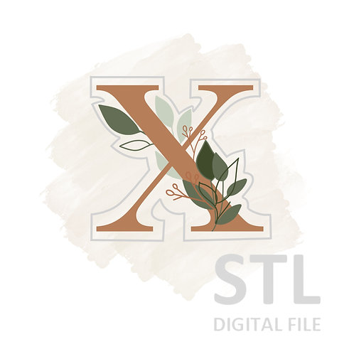 Floral X STL File Extra Large - 3.5 in