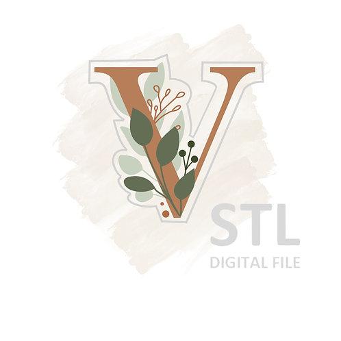 Floral V STL File Standard - 3 in