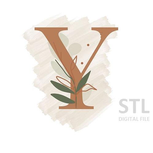 Floral Y STL File Standard - 3 in