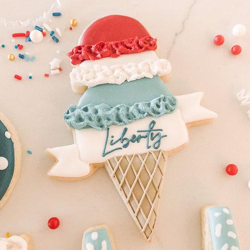 Ice Cream & Banner