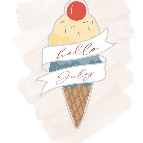 Double Scoop with Banner STL File Standard - 4 in