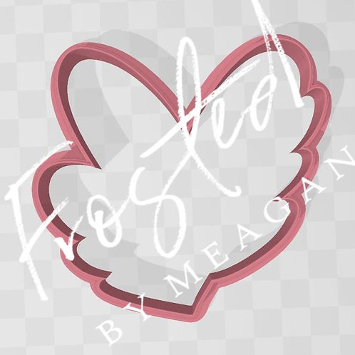 Floral Heart STL File Large 3.5 in