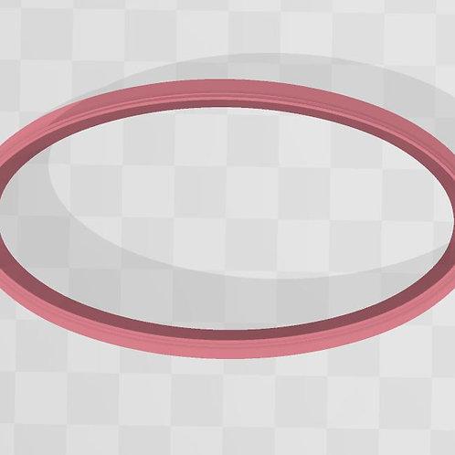 Oval STL File Small 3 in