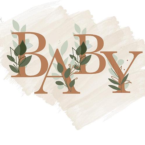 Floral Baby Letter Set