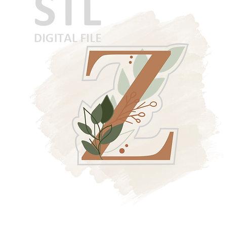 Floral Z STL File Standard - 3 in