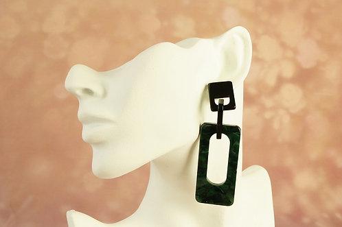 Statement-Ohrring aus angesagtem Acryl – ca. 8,8 cm lang