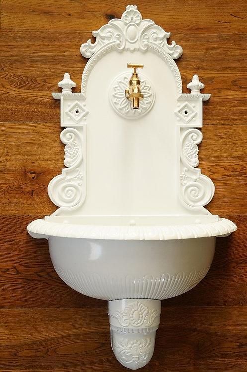 XL BASSENA aus ALUMINIUMGUSS!!! Wandbrunnen im antiken Design