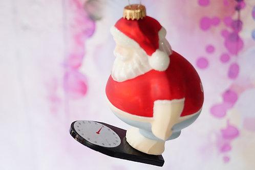 OHOHOH Weihnachtsmann auf Waage - genialer Christbaumschmuck