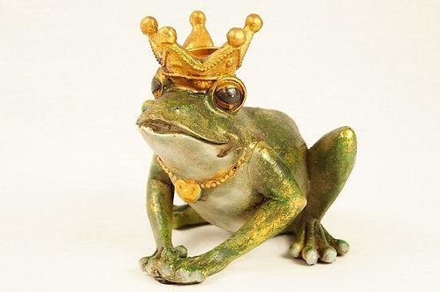 Kerzenhalter! Genialer Froschkönig aus hochwertigem Kunstharz edel bemalt