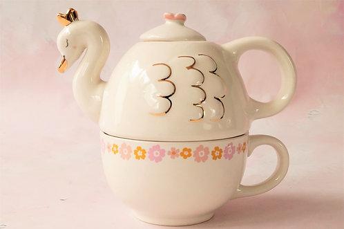 Märchenhaft! Tea for One im Schwanen-Design