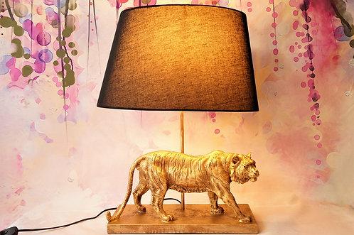 ERLESENES DESIGN! Tiger-Tischleuchte im angesagten Jungle-Chic - fast 60 cm Höhe
