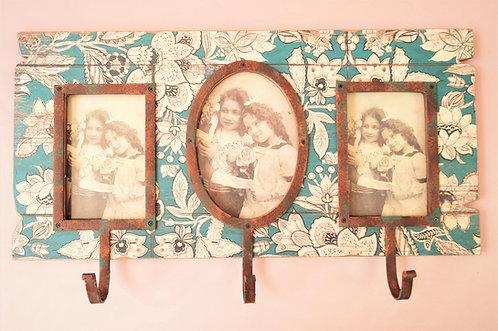 EINFACH SCHÖN! Bilderrahmen mit Hakenleiste! Garderobe im Vintagestil