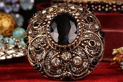 GROSSER, genialer Ring  in Schwarz–  toller Modeschmuck!