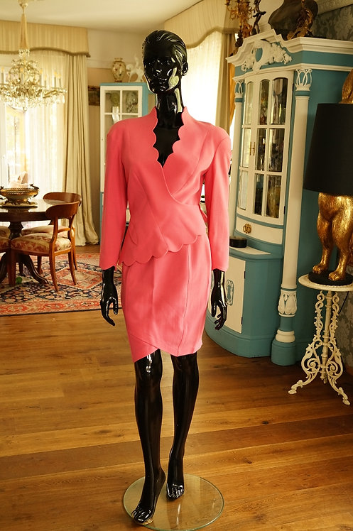 ORIGINAL Thierry Mugler Skirt-Suit aus den 90ern, 100 % Wolle - Setpreis