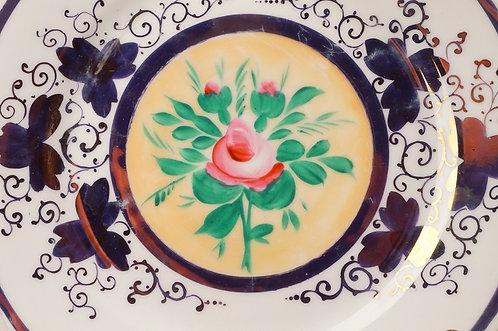 BIEDERMEIER - !2! seltene Dessertteller im typischen Rosenmotiv