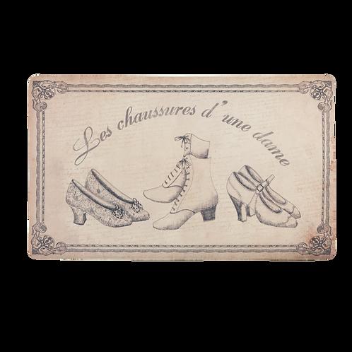 Geniale Türmatte im nostalgischen Design - 74 x 44 cm