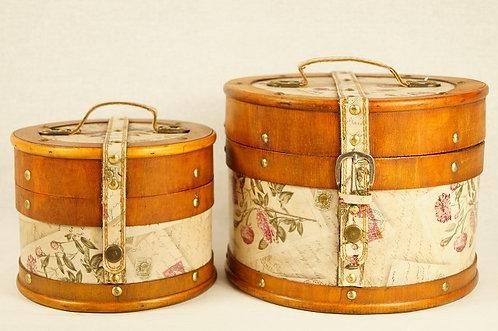 2er Kofferset aus Holz Box